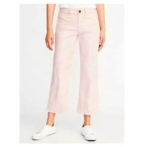 Old Navy Cropped Chinos In Pink Size 6 NWT